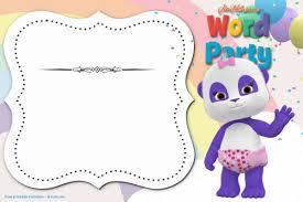 005 Free Microsoft Word Birthday Invitation Template Party