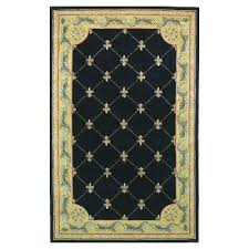 antique fleur de lis black 9 ft x 12 ft area rug