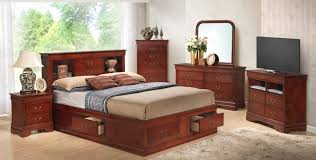 Louis Philippe Bedroom Furniture Louis Philippe B King Set Cherry King Size B2nsdrmrch 3100b