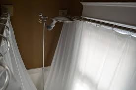 clawfoot tub shower curtain rod