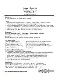 Food Service Manager Resume Examples Nursing Supervisor Resume ...