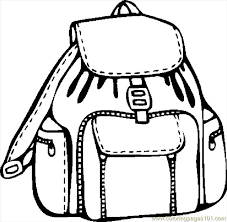 Small Picture Backpack Coloring Page Backpack For School Kids Printable Free