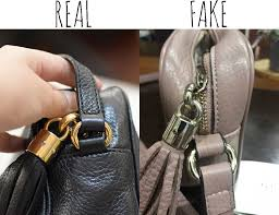 leather tassle and hardware comparing a real vs fake gucci soho bag tips