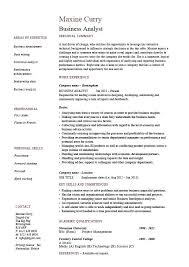 Sample Business Analyst Resumes Topshoppingnetwork Com