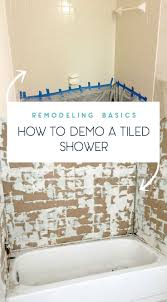 how to remove old tiled shower remodeling and