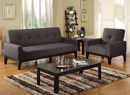 Sofa Bedroom Furniture Cm2450 Laporte Sofa Bed In Charcoal Fabric W Optional Chair