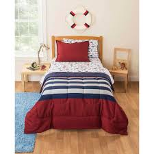 mainstays kids rugby pirate bedding bed in a bag