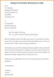 Download Termination Letter Format Reason For Of Employment Nyani Co