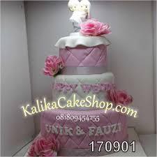 01wedding Cake 3 Susun Unikfauzi Kue Ulang Tahun Bandung