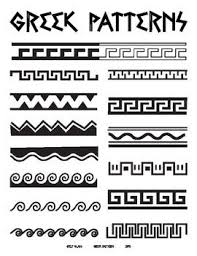 Greek Templates Greek Patterns Handout Art Resources Art Greek Pattern Greek Art