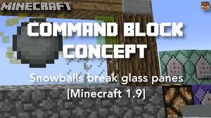 glass pane minecraft. Snowballs Break Glass Panes | Command Block Concept [Minecraft 1.9] - YouTube Pane Minecraft