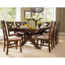 Shop 9 Piece Solid Wood Dining Set With Table And 8 Chairs On Sale