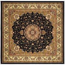 lyndhurst black ivory 8 ft x 8 ft square area rug