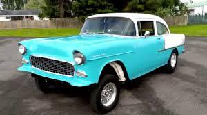 1955 Chevrolet 2 door post gasser - YouTube