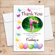 Thank You Easter 10 Personalised Girls Boys Easter Egg Thank You Photo Post Cards N2
