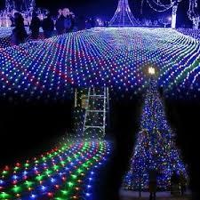 Details Zu Lichtervorhang Netz Fensterdeko Weihnachten 3m X 2m Lichterketten 204leds Licht