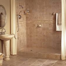 ... Bathroom, Surprising Shower Tile Designs Walk In Shower Without Door  Dimensions Cream Wall And Floor ...