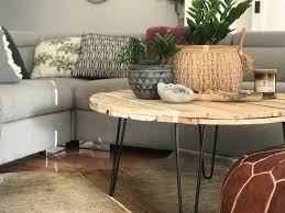 This made for a much easier move and allowed us to choose new pieces that fit perfectly in our new space. Diy Round Pallet Coffee Table With Hairpin Legs