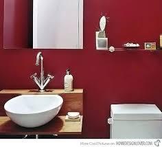 red bathroom sink bowl vessel ideas