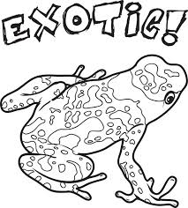 Small Picture Free Printable Exotic Frog Coloring Page for Kids
