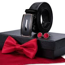 Mens Red Designer Belts Us 21 59 40 Off Fashion Designer Belts Genuine Luxury Leather Belt Bowtie Sets Dubulle Automatic Buckle Belts For Men Wedding Business Gb 34700 In
