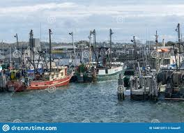 Point Judith, RI / USA - 10/19/2018: Red And Green Fishing Boats Docked At  Point Judith, Rhodes Island Editorial Photo - Image of building, landscape:  144612311
