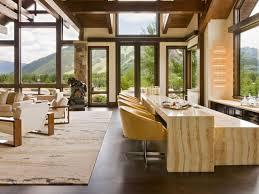 Furniture   Rustic Modern Dining Room Design With Marble Table - Rustic modern dining room ideas