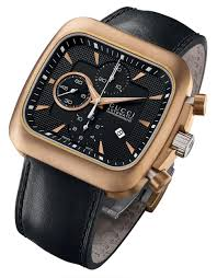 men endearing mens gucci watches the watch gallery cheap on licious gucci mens bronze and stainless steel chronograph coupe watch in black product normal full size