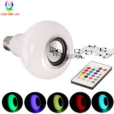 Us 876 41 Offsmart Rgb Led Bulb E27 Bluetooth Speaker Lights Lamp 12w Dimmable Wireless Music Playing Leds Lamp With 24 Keys Remote Control In Led