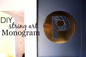 Diy String Art Diy String Art Monogram Project Nursery