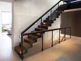 Image of: Wood Contemporary Stair Railing