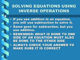 5 solving equations using