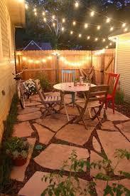 small garden patio social space