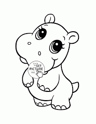 Small Picture Sweet Hippo Coloring Pages Hippo Coloring Pages Image 1 Ppinewsco