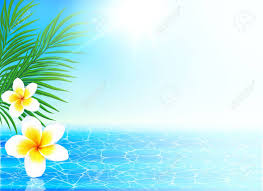 summer background calm sea and tropical flowers summer background royalty free