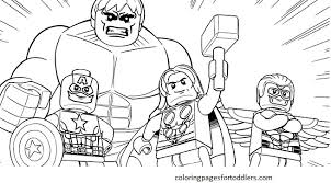 Lego Hulk Coloring Pages Color Bros