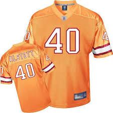 40 Tampa Buccaneers Men's Nfl Alstott Throwback Reebok Authentic Bay Jersey Orange Mike Alternate