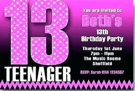 Free 13th Birthday Invitations Teenage Party Invitations Birthday Invitation Templates Free