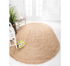 3 3 x 5 braided jute oval rug