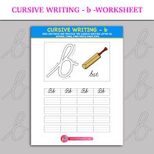 Cursive Writing - b - Worksheet | Inky Treasure