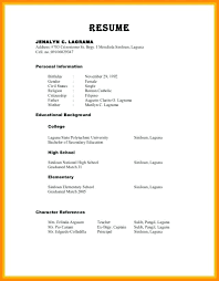 Resume References Example New Character Reference Letter Scholarship For A Student Job References