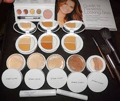 sheer cover studio make up system all shades shown here
