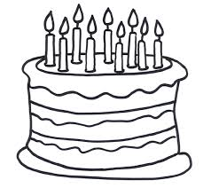 Free Birthday Cake Outline Download Free Clip Art Free Clip Art On