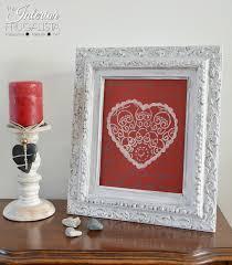 picture frame valentine decor