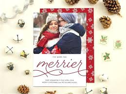 Christmas Card Baby Announcement Gifts Under The Tree Card Christmas