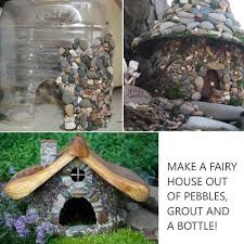 Make a Fairy House out of Plastic Bottle and Pebbles