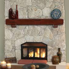 image of fireplace mantel shelf plans style
