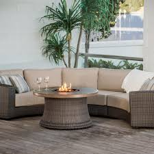 agio san rafael 5 person wicker deep seating set with fire pit table