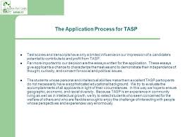 summer programs faq th nanjing alan cheng  the application process for tasp test scores and transcripts have only a limited influence on our