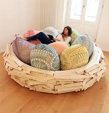 egg designs furniture. nest like bed with colorful decorative pillows in egg shape designs furniture o